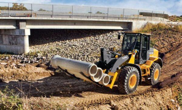 John Deere 344K Compact Wheel Loader Construction Equipment