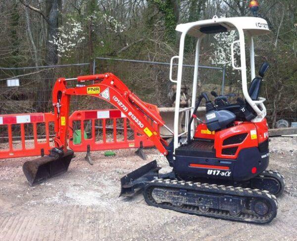Kubota U17 Zero Tail Swing Compact Excavator Specifications