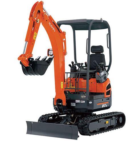 Kubota U17 Zero Tail Swing Compact Excavators Construction Equipment Overview