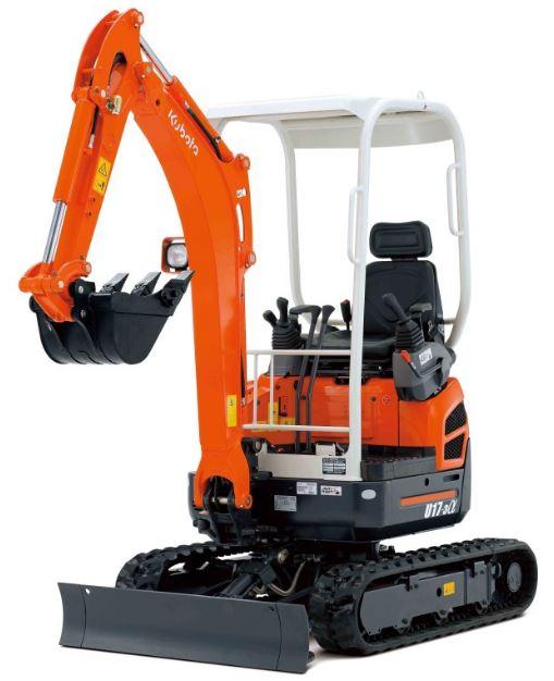 Kubota U17 Zero Tail Swing Compact Excavators Price