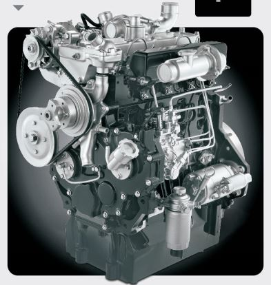 Mahindra EarthMaster 4WD Backhoe Loader engine