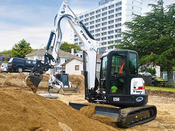 Bobcat E50 Mini Excavator features