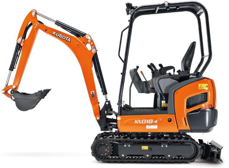 Kubota KX016-4 Mini Excavator Key Features
