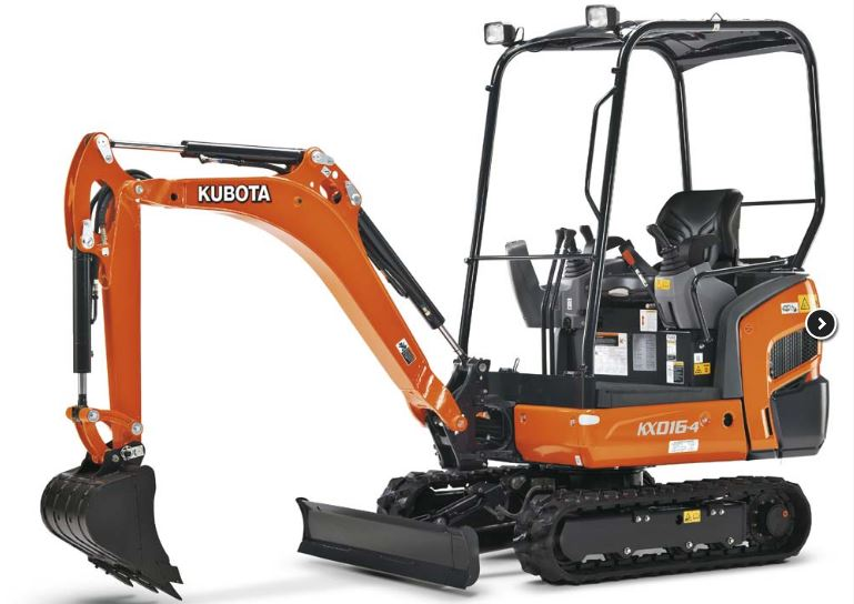 Kubota KX016-4 Mini Excavator Overview