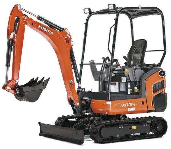 Kubota KX018-4 Mini Excavator Overview