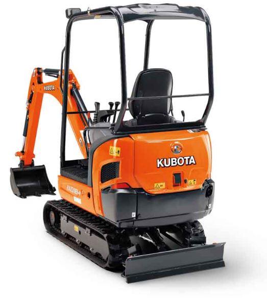 Kubota KX018-4 Mini Excavator Specifications