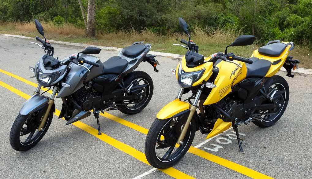 TVS Apache RTR 200 4V colors