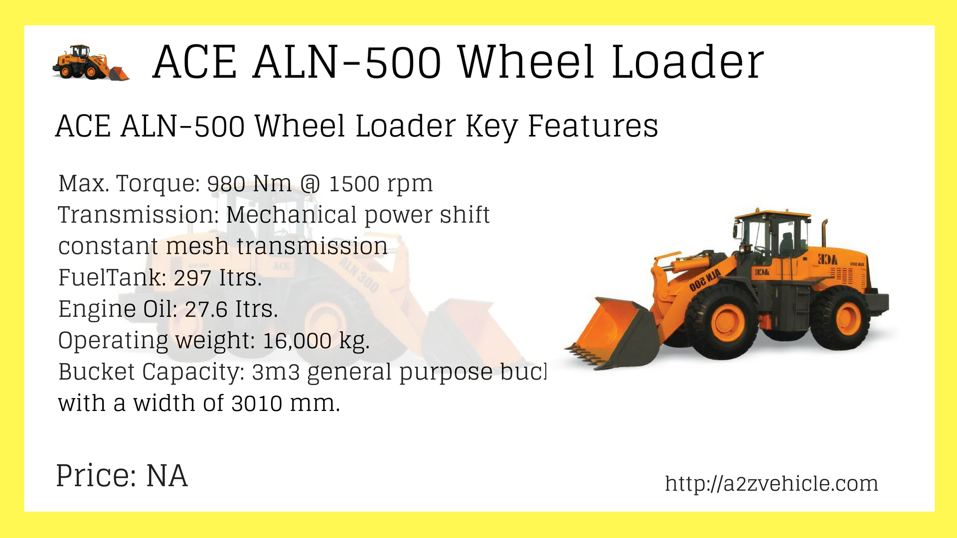 ACE ALN-500 Wheel Loader Price in India