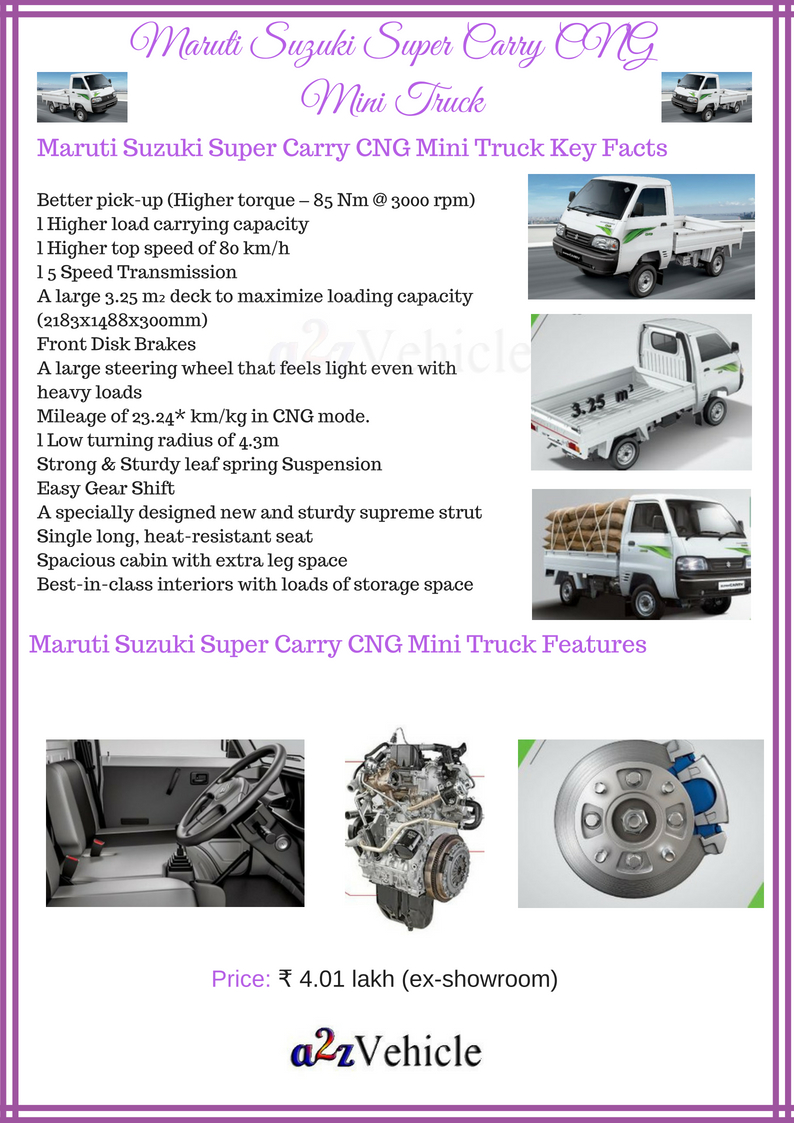 Maruti Suzuki Super Carry Cng Price Specs Features Photos