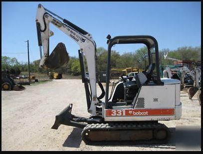 Bobcat 331 Mini Excavator specifications