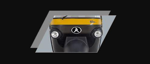 Atul Gemini Diesel Auto Rickshaw Powerful headlight for safe night driving