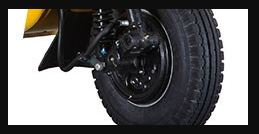 Bajaj RE 4S Auto Rickshaw BRAKE AND TYRE