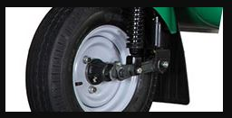 Bajaj RE Maxima Cargo tyre and brakes