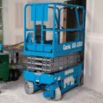 Genie GS-1930 Slab scissor lift Price Specs Batteries Charging & Photos