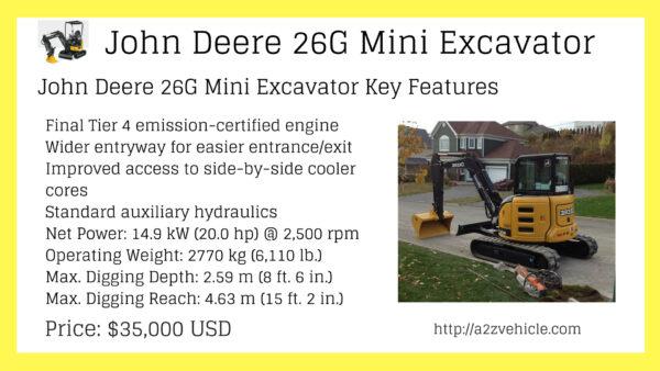 Deere 50g Specs
