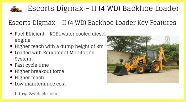 Escorts-Digmax II 4WD-Backhoe-Loader-Earthmoving-Equipment price