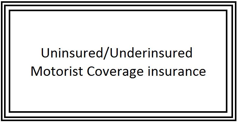 Uninsured Underinsured Motorist Coverageinsurance