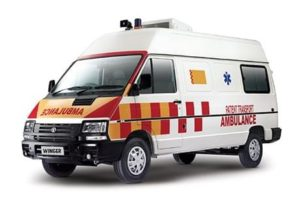 TATA WINGER AMBULANCE 3200 price in India