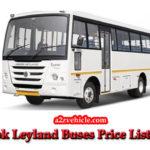 2019 Ashok Leyland Buses Price list With 28% GST