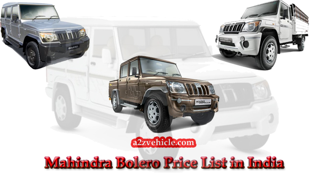 mahindra bolero price list
