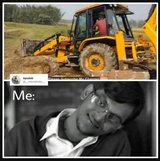 jcb ki khudai funny meme